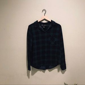Polly & Esther Plaid Button-Down